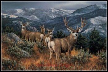 Needlework for embroidery DIY DMC High Quality - Counted Cross Stitch Kits 14 ct Oil painting - Mule Deer