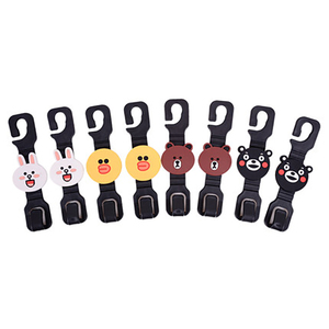 Image 2 - 2 pieces Universal multifunctional pins clips car seat hook hanger in the car stuff holder suspension Auto interior accessory