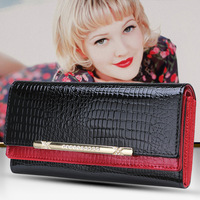 New Women Leather Handbags Europe And The United States Crocodile Pattern Ladies Evening Party Clutch Purses