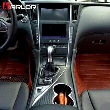 Внутренняя Центральная панель управления из углеродного волокна защитная Пленка Наклейки и наклейки для автомобиля Стайлинг для Infiniti Q50 Q50L аксессуары