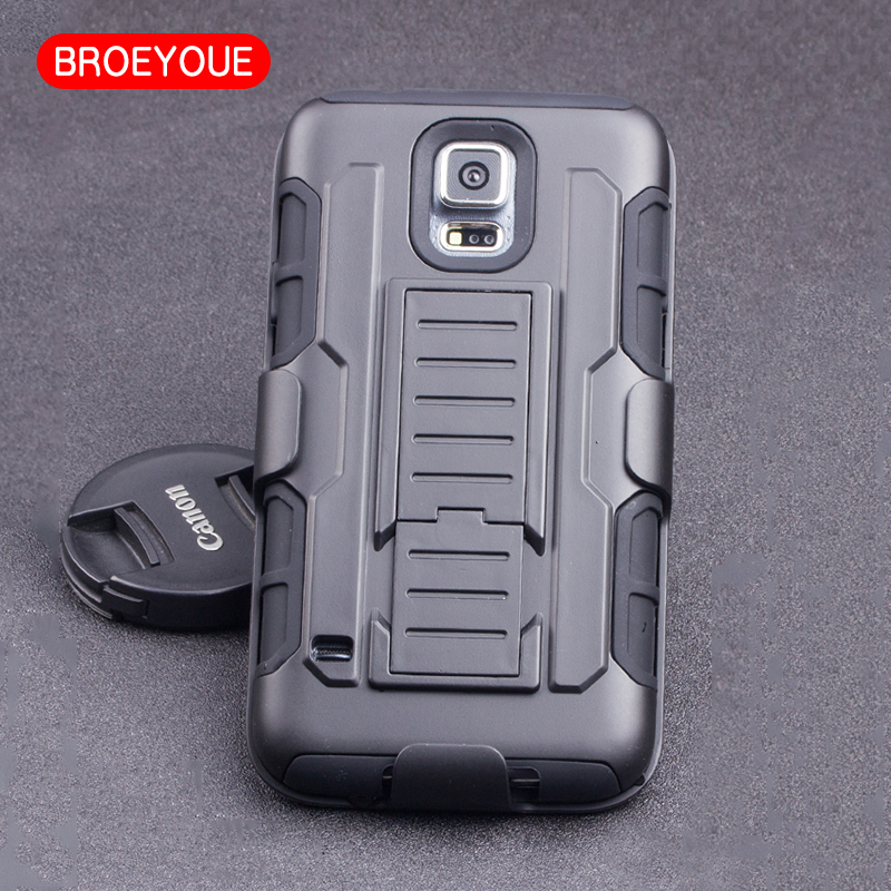 BROEYOUE Case Cover For Samsung Galaxy S5 Mini G800F Cases Impact Hybrid Stand Hard Protective Rugged Holster Back Cover Coque