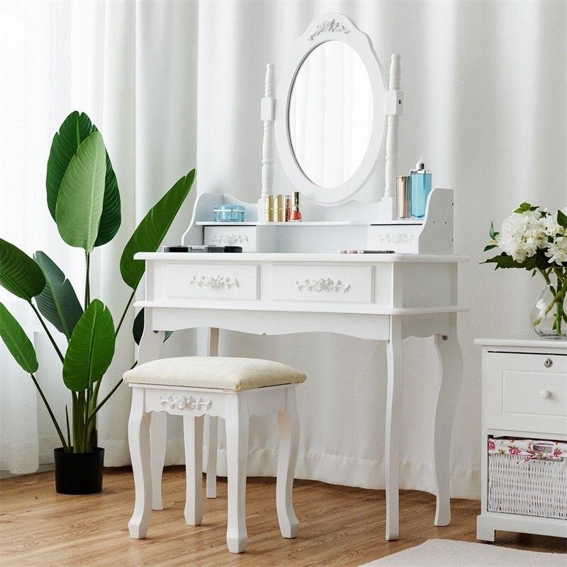 Miroir bijoux stockage maquillage coiffeuse vanité Set commodes pour chambre haute qualité meubles chambre ensembles