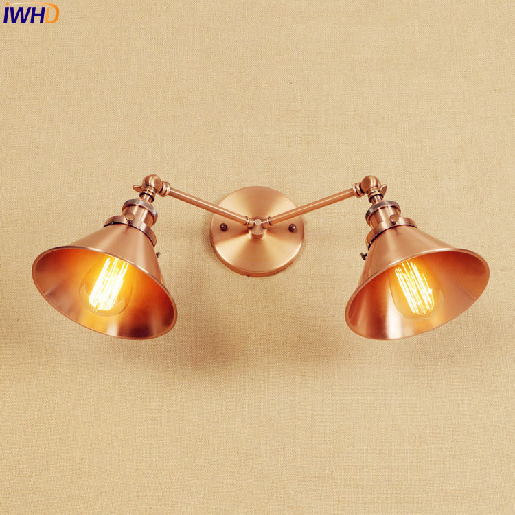 купить IWHD Vintage LED Retro Wall Lights Fixtures For Home Lighting Loft Industrial Arm Wall Lamp Sconces Arandela Luminaire Wandlamp по цене 4758.47 рублей