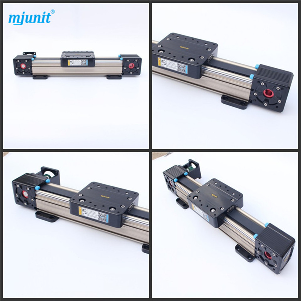 mjunit Belt Linear Actuator Drive Aluminum alloy and bearing steel linear guide rail 2 up tour pak mounting luggage rack for harley touring flhr flht flhx fltr 14 16