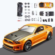 Maisto Mustang Street Racer 2014 1:24 Assembly model Alloy Toy Vehicle Diy  Block Car Model Toys Gift  Toy car neje yw0006 1 diy assembly dynamic creative saline salt water powered toy car blue white
