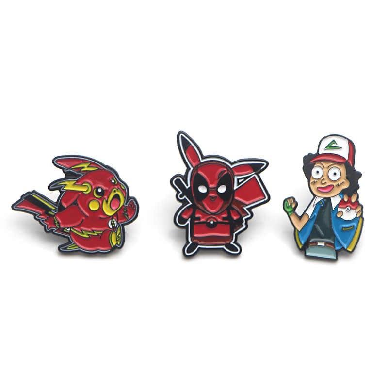 V107 Deadpool en Dragon Ball Z Metalen Emaille Pins en Broches Fashion Revers Pin Rugzak Zakken Badge Collectie Geschenken 1 stuks