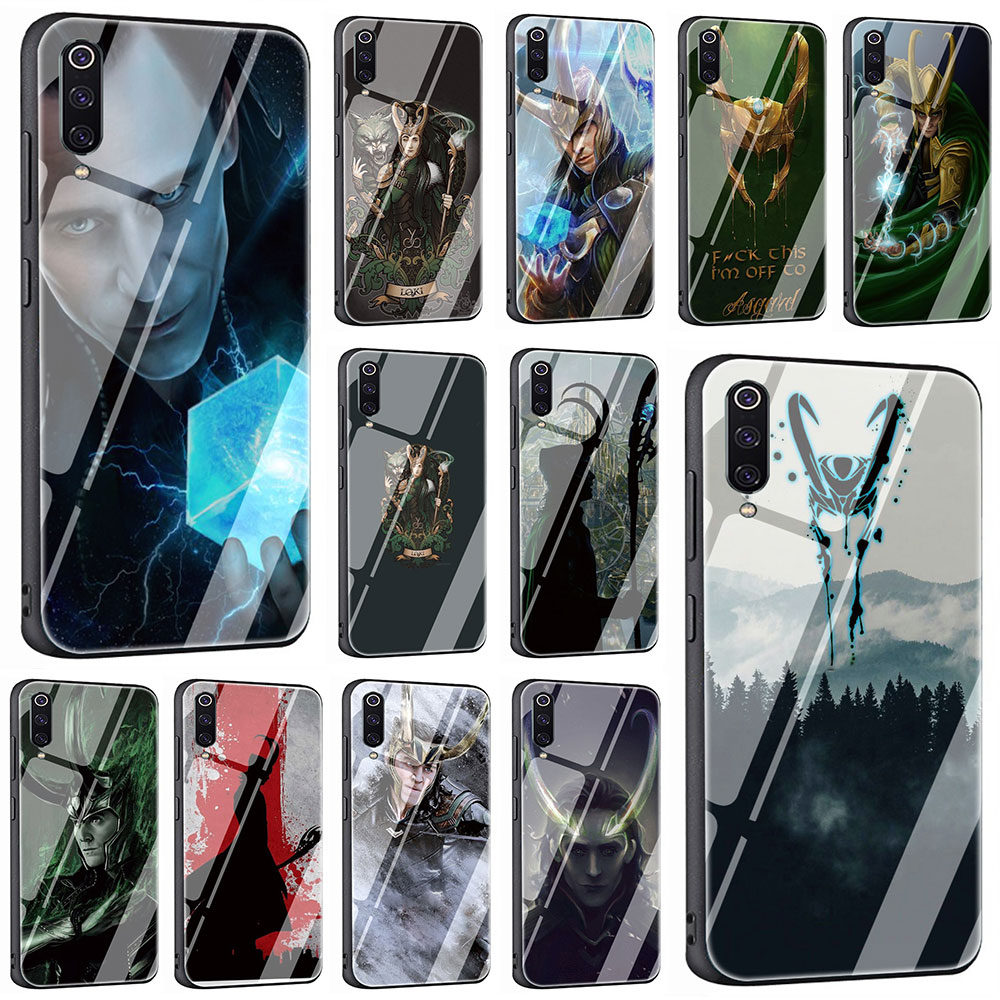 marvel-the-font-b-avengers-b-font-hero-loki-thor-tempered-glass-phone-cover-case-for-xiaomi-mi-8-9-redmi-4x-6a-note-5-6-7-pro-pocophone-f1
