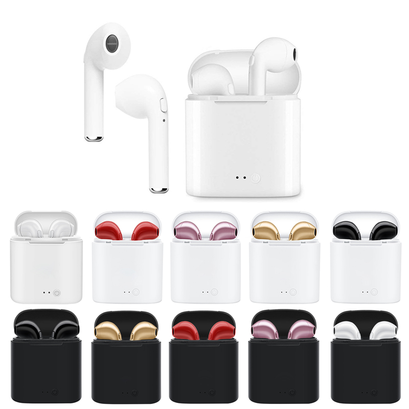 High Quality i7s TWS Mini Wireless Bluetooth Earphones Headphones Stereo Music Earbuds For Apple Air Pod Iphone Xiaomi wireless big headphones high quality bluetooth for cell phones stereo audio foldable earphones tf card music player de112b