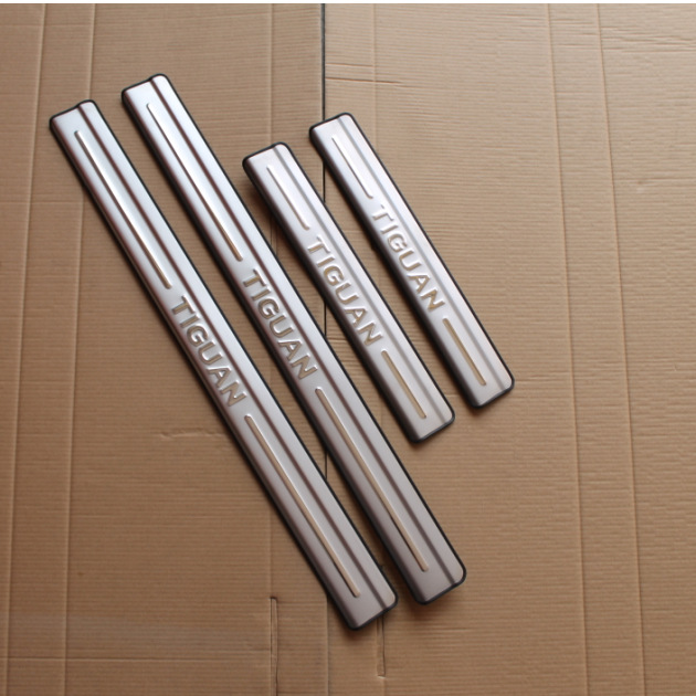 VW TIGUAN 2010 2014 2015 Stainless Steel Scuff Plate Door Sill Ultrathin Threshold Strip Welcome Pedal