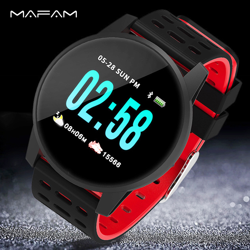 MAFAM Men Watch Smart Watch Women Heart Rate Blood Pressure Monitor Sleep Fitness Tracker Pedometer Smartwatch For IOS AndoridMAFAM Men Watch Smart Watch Women Heart Rate Blood Pressure Monitor Sleep Fitness Tracker Pedometer Smartwatch For IOS Andorid