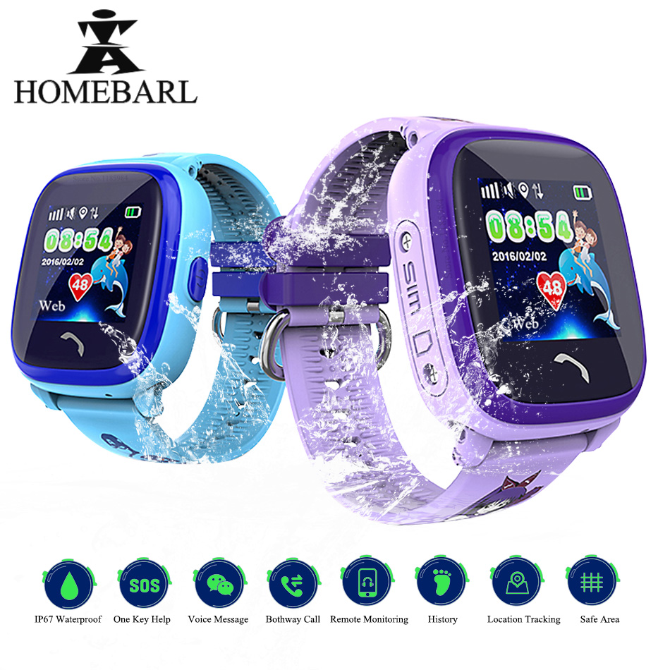 Водонепроницаемые Смарт часы DF25G GPS для детей, Смарт часы, SOS трекер местоположения, DF25 LBS, безопасный монитор для детей, защита от потери