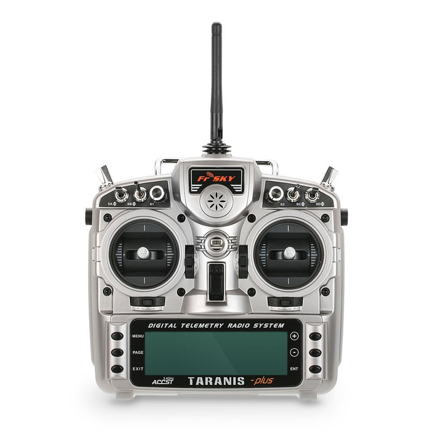 Frsky ACCST Taranis X9D PLUS 16CH 2.4GHz Transmitter with X8R Receiver Mode 2 For Racing Drone new 2 4g 8ch receiver ppm sbus output for frsky x9d plus xjt djt dft dht for rc multicopter fpv racing camera drone spare parts