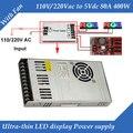 Spezielle LED display power versorgung Mit Fan Ultra-dünne 110/220VAC eingang, 5 v 80A 400 watt ausgang