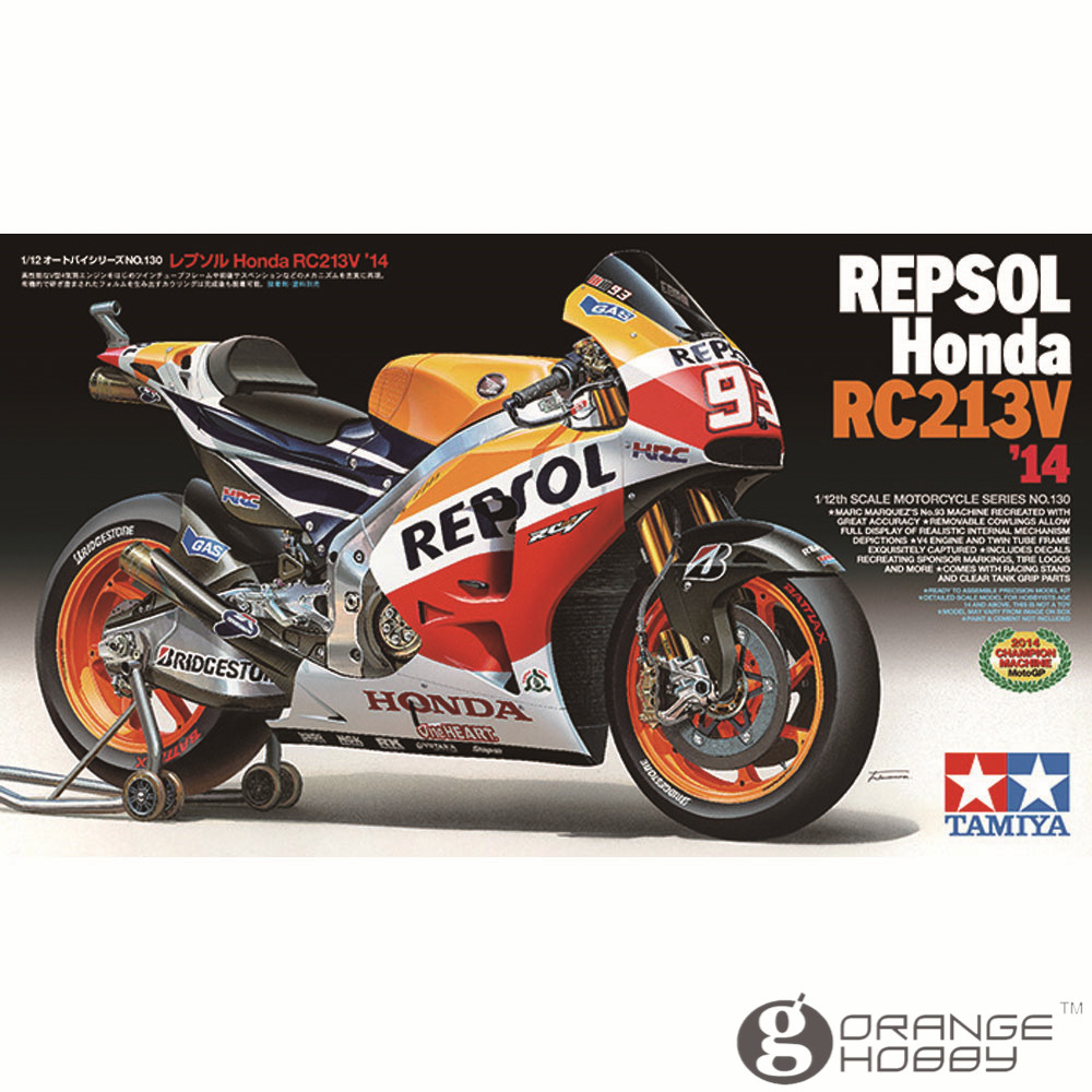OHS Tamiya 14130 1 12 Repsol RC213V 14 Scale Assembly Motorcycle Model Building Kits