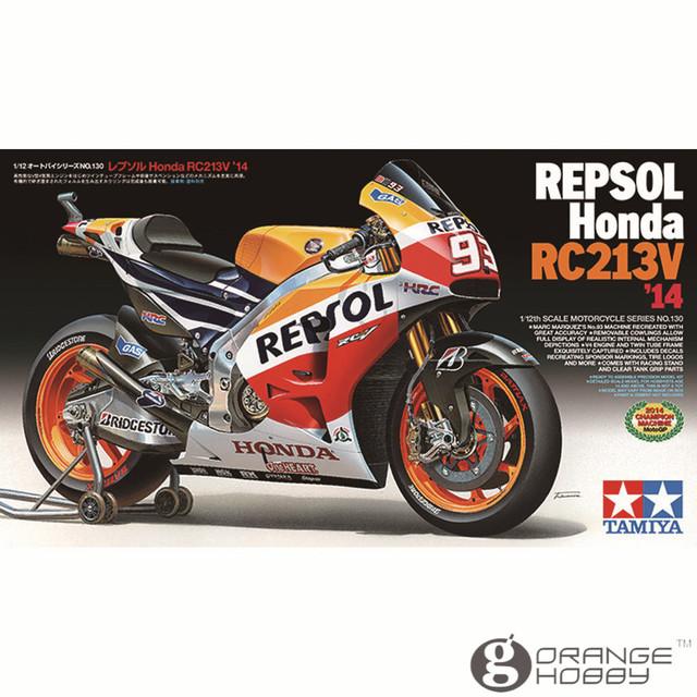 OHS RC213V'14 Escala Tamiya 14130 1/12 Repsol Motocicleta Montagem Modelo de Construção Kits