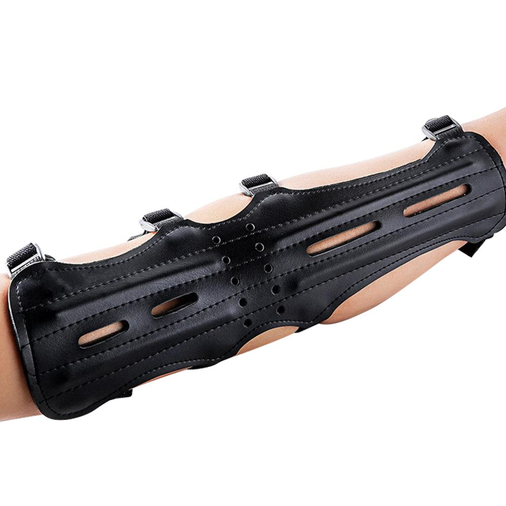 Armguard Bracers Cowhide Four Holes Protective Clothing Training Finger Arrow Bow  Archery Field Arm Guard HUnting Accessories