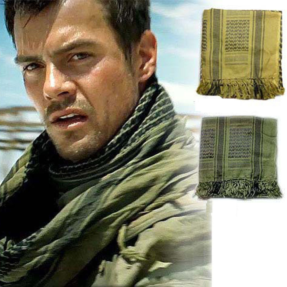 Military Shemagh Army Desert Keffiyeh Arab Scarf Shawl Neck Cover Head Wrap