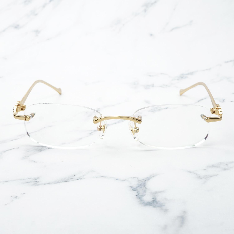 100% QualitäT Retro Panther Gläser Männer Luxus Brille Rahmen Für Frauen Dekoration Trendy Brillen Großhandel Oculos De Sol Carter Gläser 166