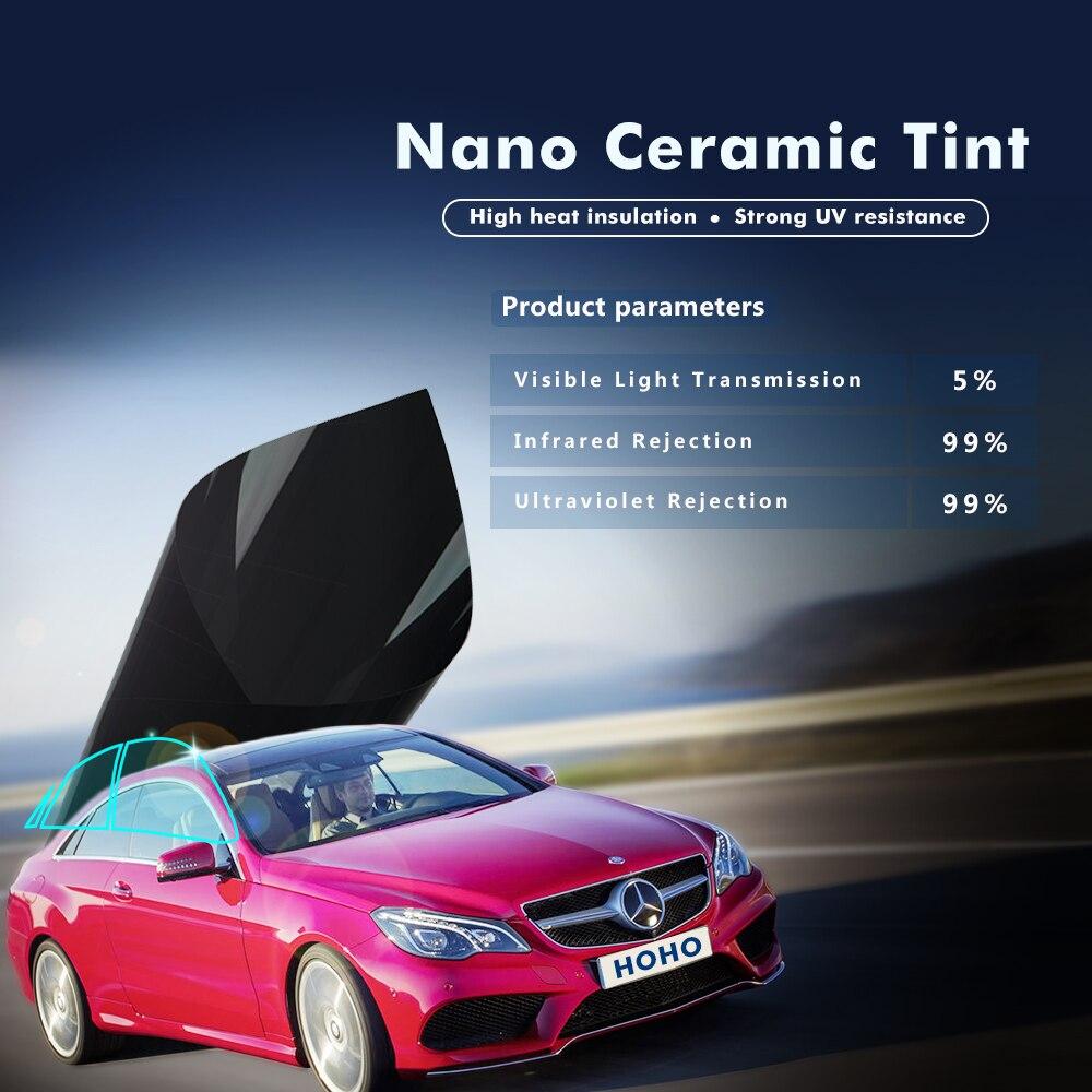 ir rej 99 scratch resistant nano ceramic car solar tint film solar window tint film with 5 vlt. Black Bedroom Furniture Sets. Home Design Ideas