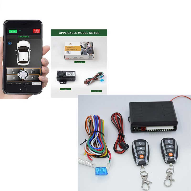 Smart Key Keyless Entry Central Locking Push Button Ignition Door Hand By Shaking Unlock/lock With Remote Start Trunk Openg