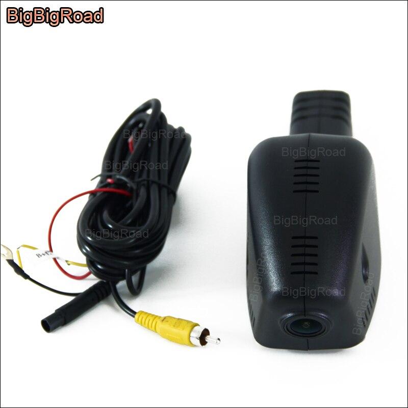 все цены на BigBigRoad For Volkswagen Bora Touran CC Sagitar Jetta Sharan golf Car Video Recorder wifi DVR Car black box Dash cam