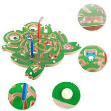 Магнитная волшебная палочка и черви мраморы лабиринт деревянный лабиринт животных развивающие детские Семейные Игрушки для родителей