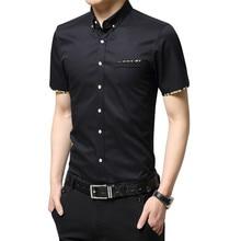 2018 New British style Men's Short Sleeve Shirt Plaid Casual Summer Shirts Slim Fit Korean Men Cotton Man Fashion Shirt YN588