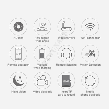 Mini wifi camera IP hd secret cam micro small 1080p wireless videcam home outdoor STTWUNAKE Protection Spy Authorized store 6