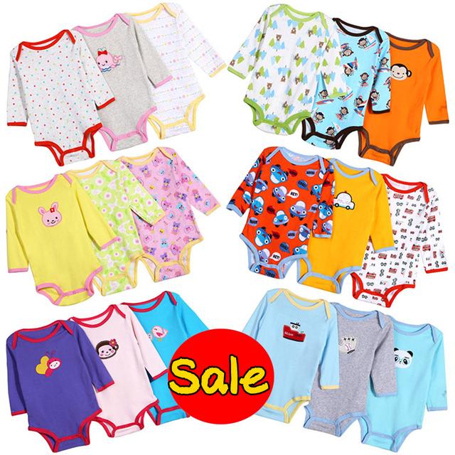 5 Pcs Macacão de Bebê Unissex Primavera Baby Girl Roupas Roupa Bebes Recém-nascidos Roupas de Bebê Manga Longa Infantil Macacões de Bebê Menino