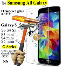 Фотография 2.5D HD Ultra Thin Tempered Glass Screen Protector For Samsung Galaxy Series S6 S5 S4 S3 mini A3 A5 A7 Cover protective Film