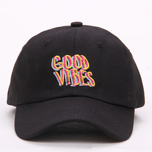 2017 new men women Good Vibes Dad Hat Embroidered Baseball Cap Curved Bill 100% Cotton Casquette Brand Bone Fashion Hats