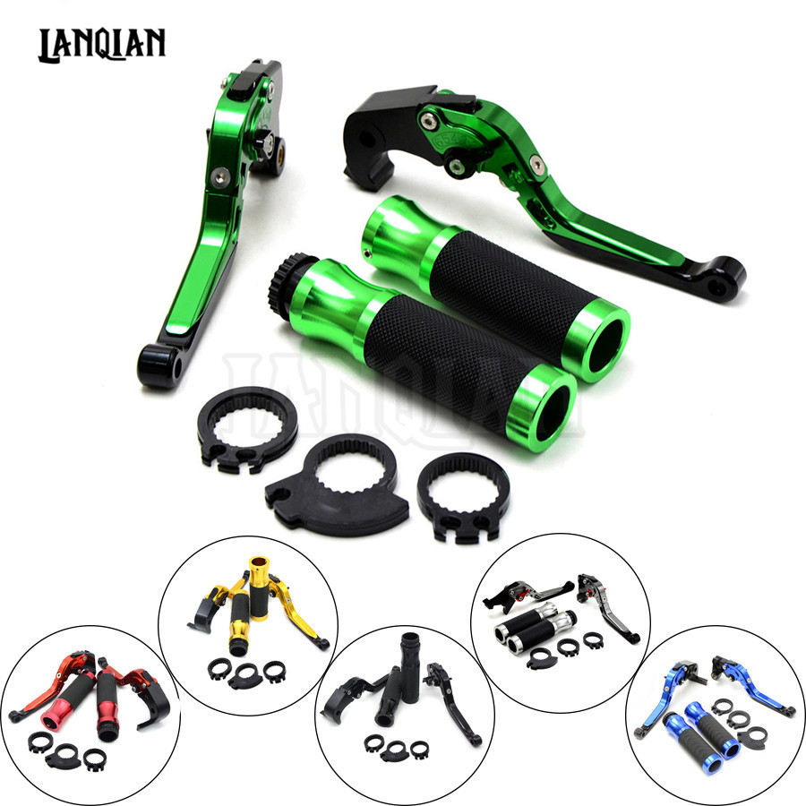 Motorcycle Brakes Clutch Levers Adjustable Folding Extendable & handlebar handle bar For KAWASAKI ZX10R ZX 10R 2016 2017 2018 free shipping for ducati scrambler 2015 2016 motorcycle modified cnc non slip handlebar single folding brakes clutch levers