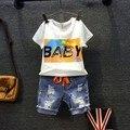 2016 Fashion Boys Set 2 Pcs Set T shirt  Pant Jeans  Free Shipping