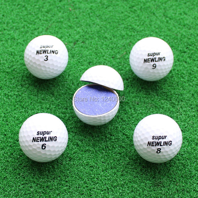 Golf Game Balls Three layers Golf Ball Golf Game Ball Super Long Distance Golf Ball 10pcs/lot  Free Shipping