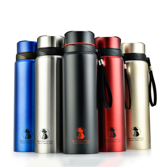 2029928c75c 700/800/1000ml Business Vacuum Flask Stainless Steel Tumbler Portable  Insulated Cup Thermos Bottle