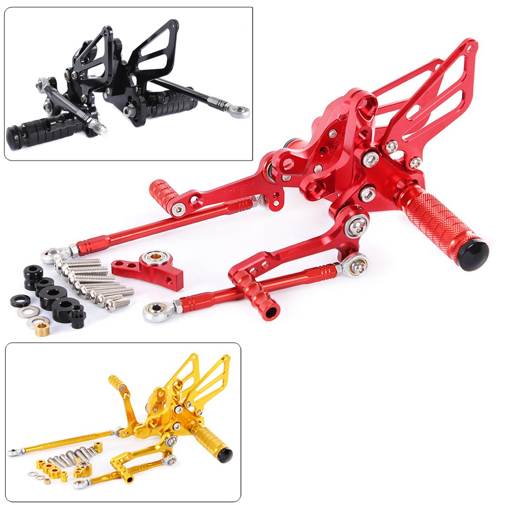 Motorcycle CNC Aluminum Adjustable Rearsets Rear Sets Foot Pegs Pedal Foot Rests For Ducati 848 848EVO 2008-2013Motorcycle CNC Aluminum Adjustable Rearsets Rear Sets Foot Pegs Pedal Foot Rests For Ducati 848 848EVO 2008-2013