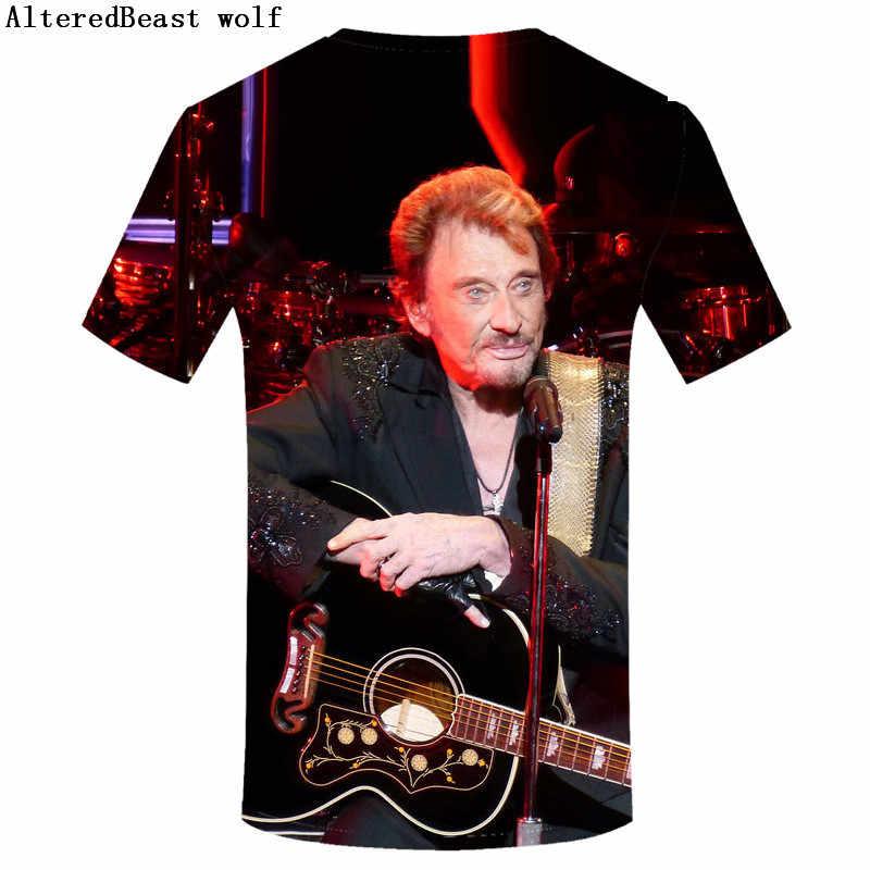 Футболка с изображением Джони Халлидей рок 3d футболки летняя футболка для мужчин забавная Повседневная футболка мужские футболки с коротким рукавом плюс размер