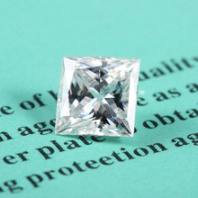 TransGems  5mm*5mm F Color Princess cut Moissanite Diamond Loose Stone