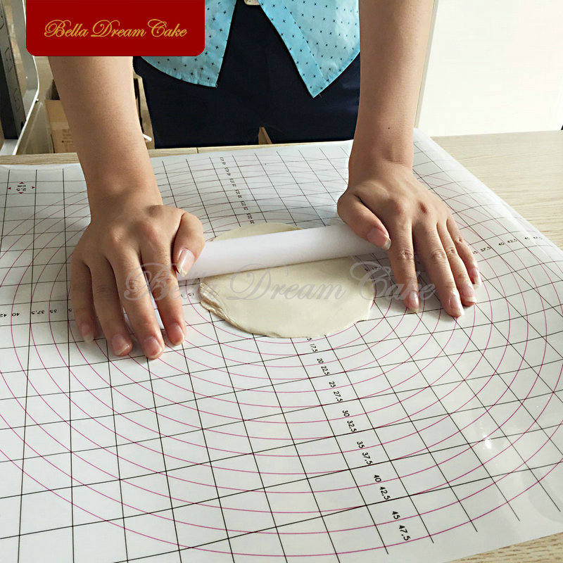 Cookie Cake Release Mat Large Square Ruler Split Mat Pad Fondant DIY Baking Tools Rolling Fondant