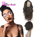 Предварительно Сорвал 360 Кружева Фронтальная Закрытие 7А Перуанский Девственные Волосы объемная Волна 360 Фронтальная С Естественным Линии Роста Волос 360 Кружева Девы волос