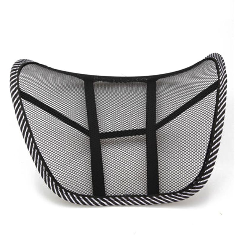 Mesh Lumbar Back Brace Support Chair Cushion Seat Waist Pillow Posture Corrector