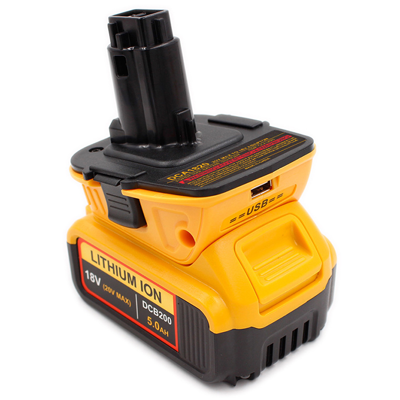 For Dca1820 20V <font><b>18V</b></font> Usb <font><b>Adapter</b></font> Work With <font><b>Dewalt</b></font> Max Xr Dcb200 Dcb201 Dcb203 Dcb203Bt Dcb204 Dcb205 Dcb206 Compact Batteries image