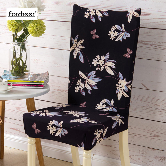 Chair Cover Floral Print Butterfly Shape Chair Cover Home Dining Elastic  Chair Covers Multifunctional Spandex Universal