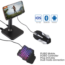 G3 Pubg Gamepad denetleyici ios PUBG mobil Android PC Bluetooth USB klavye fare dönüştürücü standı iPad tak ve çalıştır