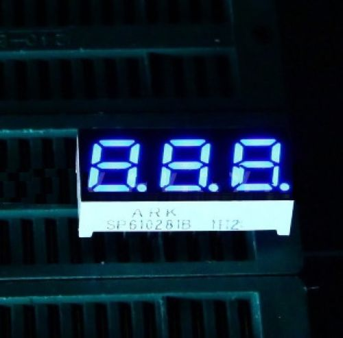 5 Pcs 0.28 Inch 3 Digit Led Display 7 Seg Segment Common Anode Blue NEW