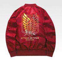 Spring Mens Attack On Titan Thin Jackets Attack Shingeki Cosplay Bomber Jacket Spring Baseball Windbreaker Jackets