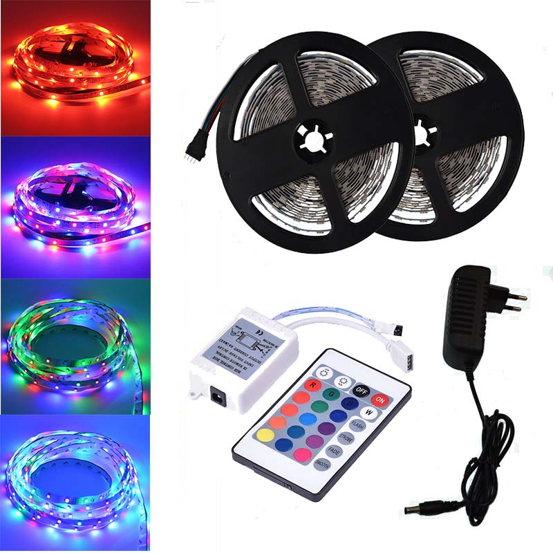 BOLEDENGYE 5 Meter 10 Meters Non-waterproof RGB Led Strip Light 2835 DC12V 60Leds/M Flexible Lighting Ribbon Tape Strip