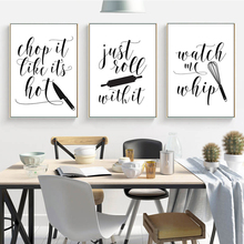 Cooking with Love Kitchen Quote Wall Art Prints and PosterJust Roll with It Canvas Painting Wall