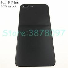 10 ピース/ロットオリジナル Apple の Iphone 8 プラス iPhone8 + プラスバックバッテリーカバーガラスハウジングケース + カメラフレームレンズ + ロゴ