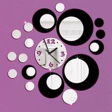 Новое поступление прямые продажи акриловые настенные часы 3d домашний Декор diy Кристальные Кварцевые черные часы художественные часы